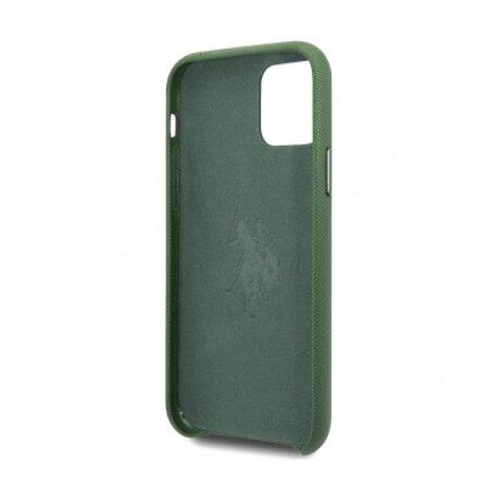 Husa Cover US Polo TPU Wrapped pentru iPhone 11 Pro Max USHCN65PUGN Green
