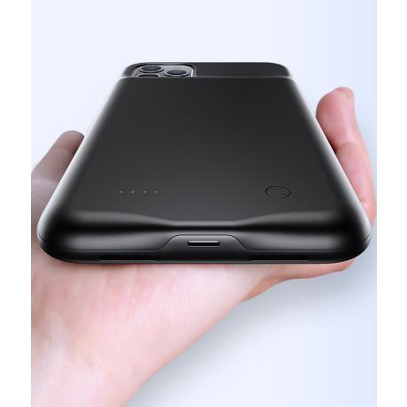 Husa Cu Baterie iPhone 11, Usams 4500mAh, Negru