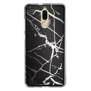 Husa Fashion Huawei Mate 10 Lite, Marble Negru