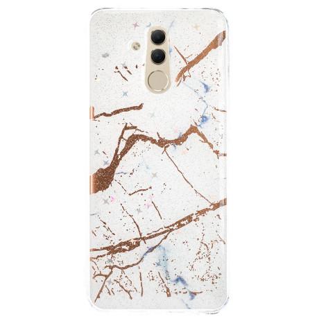 Husa Fashion Huawei Mate 20 Lite, Marble Alb