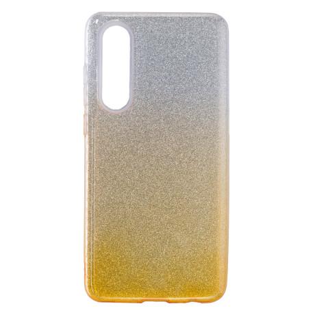 Husa Fashion Huawei P30, Glitter Auriu