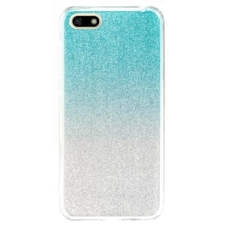 Husa Fashion Huawei Y5 Prime 2018, Glitter Argintie