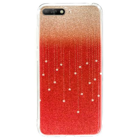 Husa Fashion Huawei Y6 2018, Glitter Rosu
