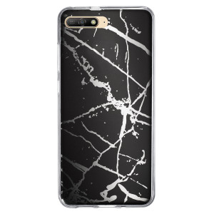 Husa Fashion Huawei Y6 2018, Marble Negru
