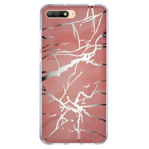 Husa Fashion Huawei Y6 2018, Marble Roz