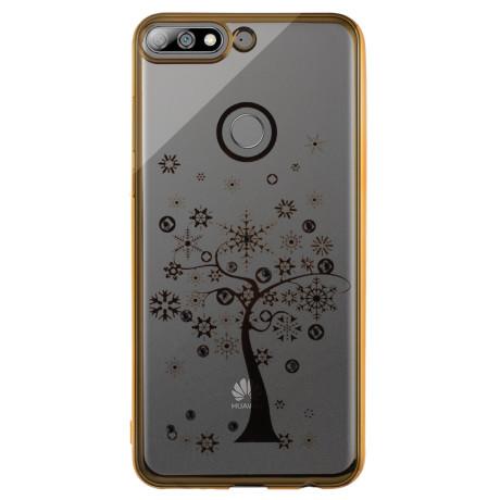 Husa Fashion Huawei Y7 Prime 2018 Tree Auriu Beeyo