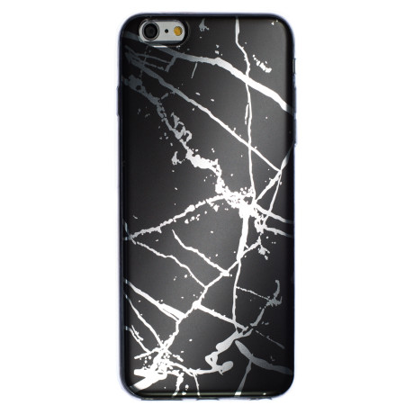 Husa Fashion iPhone 6 Plus, Marble Negru