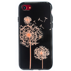Husa Fashion iPhone 7/8/SE 2 Negru, Orange flowers