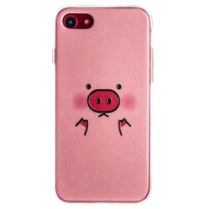 Husa Fashion iPhone 7/8/SE 2 Negru, Pig