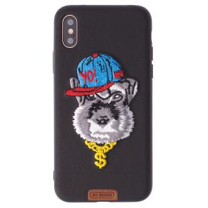 Husa Fashion iPhone X, Black Pastoral, WK