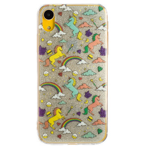 Husa Fashion iPhone XR, Glitter Unicorn