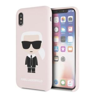 Husa Fashion iPhone XR Ikonik Karl Lagerfeld Roz