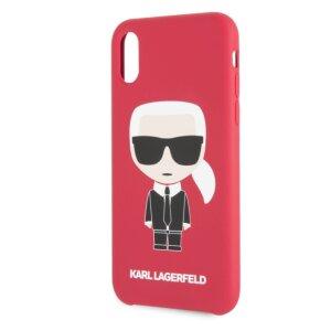 Husa Fashion iPhone XR Rosu Ikonik Karl Lagerfeld