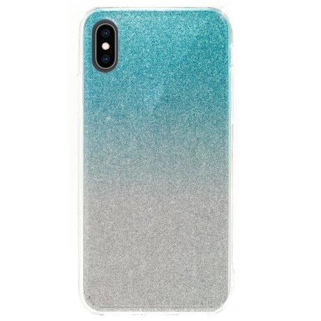 Husa Fashion iPhone X/XS, Glitter Argintie