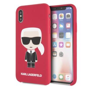 Husa Fashion iPhone X/XS Rosu Ikonik Karl Lagerfeld