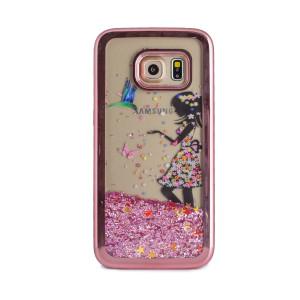 Husa fashion liquid Samsung Galaxy S7, Contakt Roz