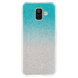 Husa Fashion Samsung Galaxy A6 2018, Glitter Argintie