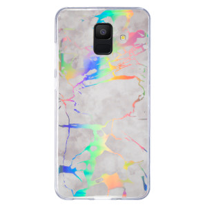 Husa Fashion Samsung Galaxy A6 2018, Marble Alb
