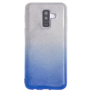 Husa Fashion Samsung Galaxy A6 Plus 2018, Contakt Glitter Albastra