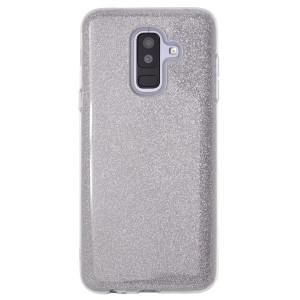 Husa Fashion Samsung Galaxy A6 Plus 2018, Contakt Glitter Argintiu