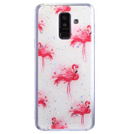 Husa Fashion Samsung Galaxy A6 PLus 2018, Flamingo