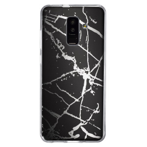 Husa Fashion Samsung Galaxy A6 Plus 2018, Marble Negru