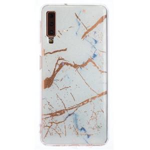Husa Fashion Samsung Galaxy A7 2018, Marble Alb