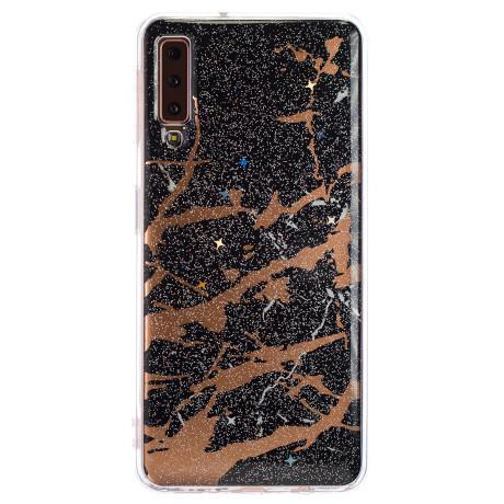 Husa Fashion Samsung Galaxy A7 2018, Marble Negru