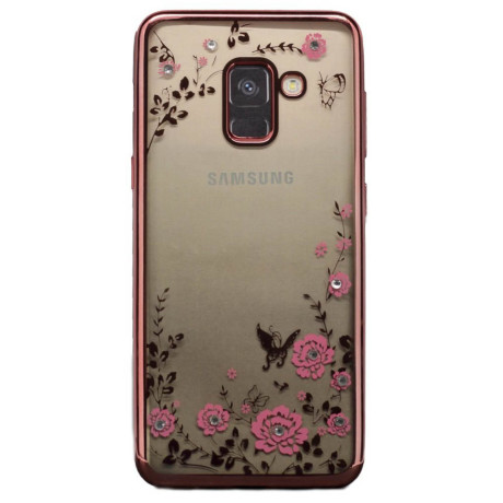 Husa fashion Samsung Galaxy A8 2018, Contakt Roz Gold