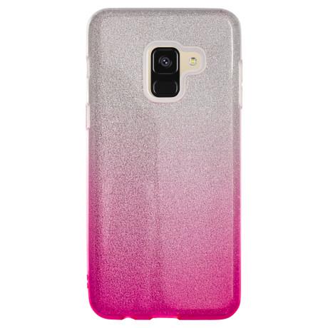 Husa Fashion Samsung Galaxy A8 2018, Glitter Roz