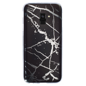 Husa Fashion Samsung Galaxy A8 Plus 2018, Marble Negru