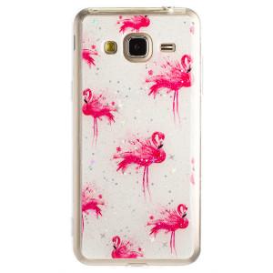 Husa Fashion Samsung Galaxy J3 2016, Flamingo