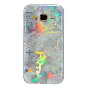 Husa Fashion Samsung Galaxy J3 2016, Marble Alb