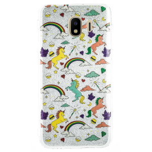 Husa Fashion Samsung Galaxy J4 2018, Glitter Unicorn
