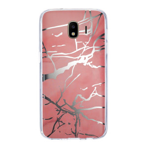 Husa Fashion Samsung Galaxy J4 2018, Marble Roz