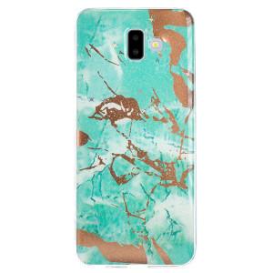 Husa Fashion Samsung Galaxy J4 Plus 2018, Marble Verde