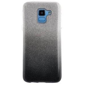 Husa Fashion Samsung Galaxy J6 2018, Contakt Glitter Neagra