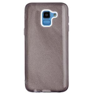 Husa Fashion Samsung Galaxy J6 2018, Glitter Negru