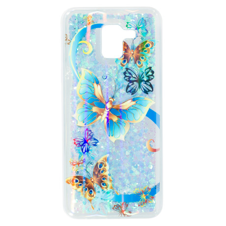 Husa fashion Samsung Galaxy J6 2018, Liquid Butterfly