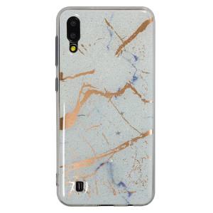 Husa Fashion Samsung Galaxy M10, Marble Alb