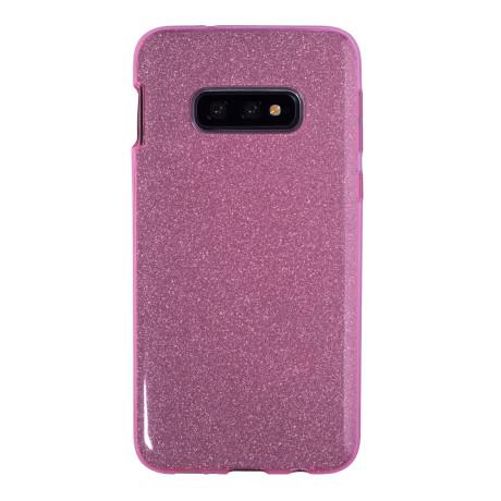 Husa Fashion Samsung Galaxy S10 E, Glitter Roz