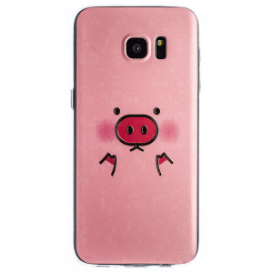 Husa Fashion Samsung Galaxy S7 Edge, Pig