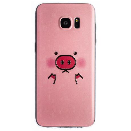 Husa Fashion Samsung Galaxy S7 Edge, Pig