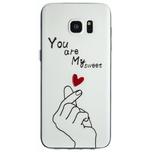 Husa Fashion Samsung Galaxy S7 Edge, White My Sweet