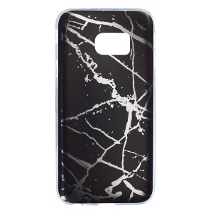 Husa Fashion Samsung Galaxy S7, Marble Negru
