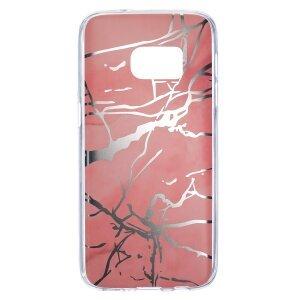 Husa Fashion Samsung Galaxy S7, Marble Roz