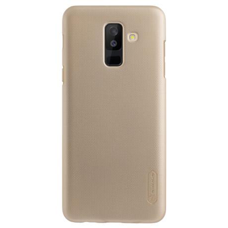 Husa + Folie Samsung Galaxy A6 Plus 2018 Auriu Nillkin