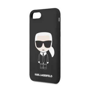 Husa Karl Lagerfeld Full Body Silicone Case pentru iPhone 8/SE2 Black