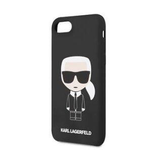 Husa Karl Lagerfeld Full Body Silicone Case pentru iPhone 8/SE2 Negru