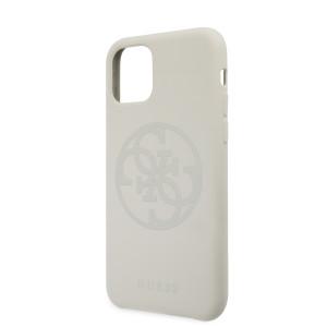 Husa Guess 4G Silicone Tone Cover pentru iPhone 11 White